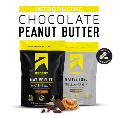 Ascent Adds Chocolate Peanut Butter Flavor to Line of Clean Protein Products