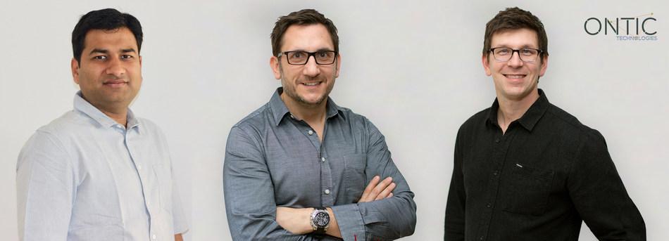 De izquierda a derecha: los cofundadores de Ontic Gagan Jain (Director de Tecnología), Tom Kopecky (Director de Estrategia) y Lukas Quanstrom (Director Ejecutivo)