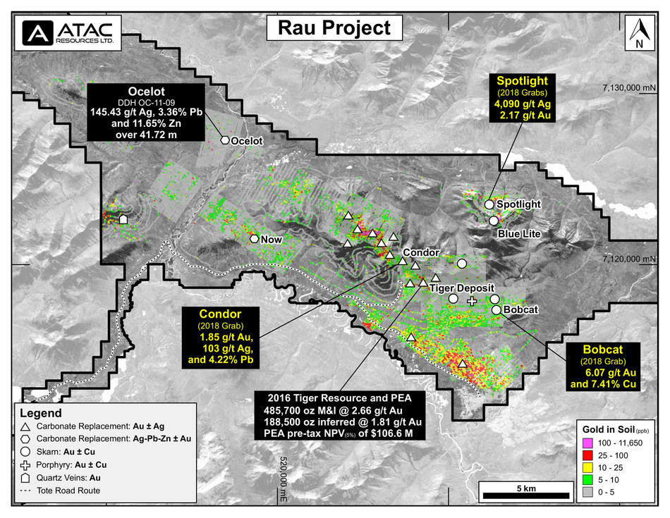 Rau Project Mineral Map (CNW Group/ATAC Resources Ltd.)