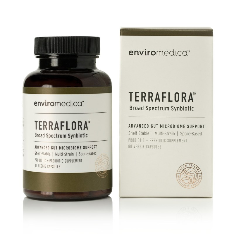 Terraflora™ is a professional grade, broad spectrum synbiotic (probiotic + prebiotic) featuring an innovative combination of spore form probiotics and microbiome-accessible, food-based prebiotics designed to support optimal gastrointestinal health.