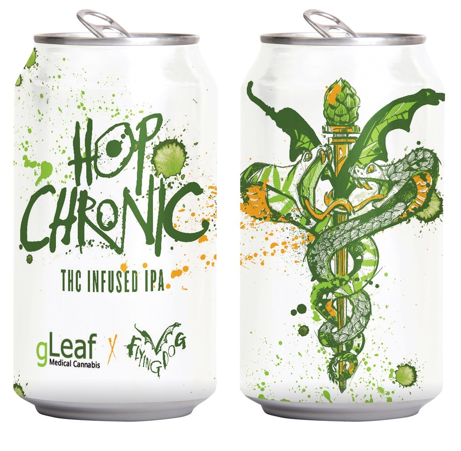 Hop Chronic, brewed by Flying Dog in partnership with Green Leaf Medical, will be Maryland's first THC-infused beer and is slated to be released this year.