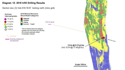 Diagram 12 : 2018 Infill Drilling Results (CNW Group/Rubicon Minerals Corporation)
