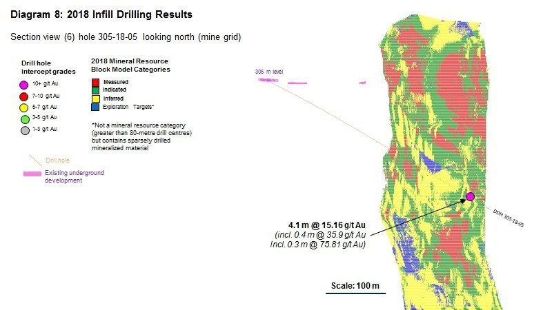Diagram 8 : 2018 Infill Drilling Results (CNW Group/Rubicon Minerals Corporation)