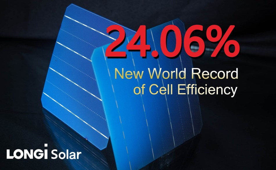 LONGi Solar sets new bifacial mono-PERC solar cell world record at 24.06 percent