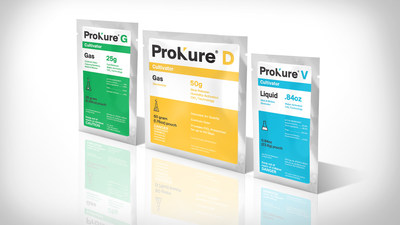 ProKure ® Solutions has revolutionized the world of chlorine dioxide (ClO2). Utilizing a patented water-activated pouch technology, cultivation professionals can safely and cost effectively produce any quantity of ClO2 on-site in both gas and liquid forms.