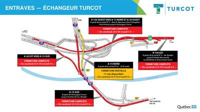 1 - Entraves − Échangeur Turcot (Groupe CNW/Ministère des Transports)
