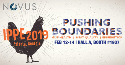 "Novus International, Inc. at IPPE 2019 will demonstrate how its research is ""pushing boundaries"" of what is expected from animal nutrition."