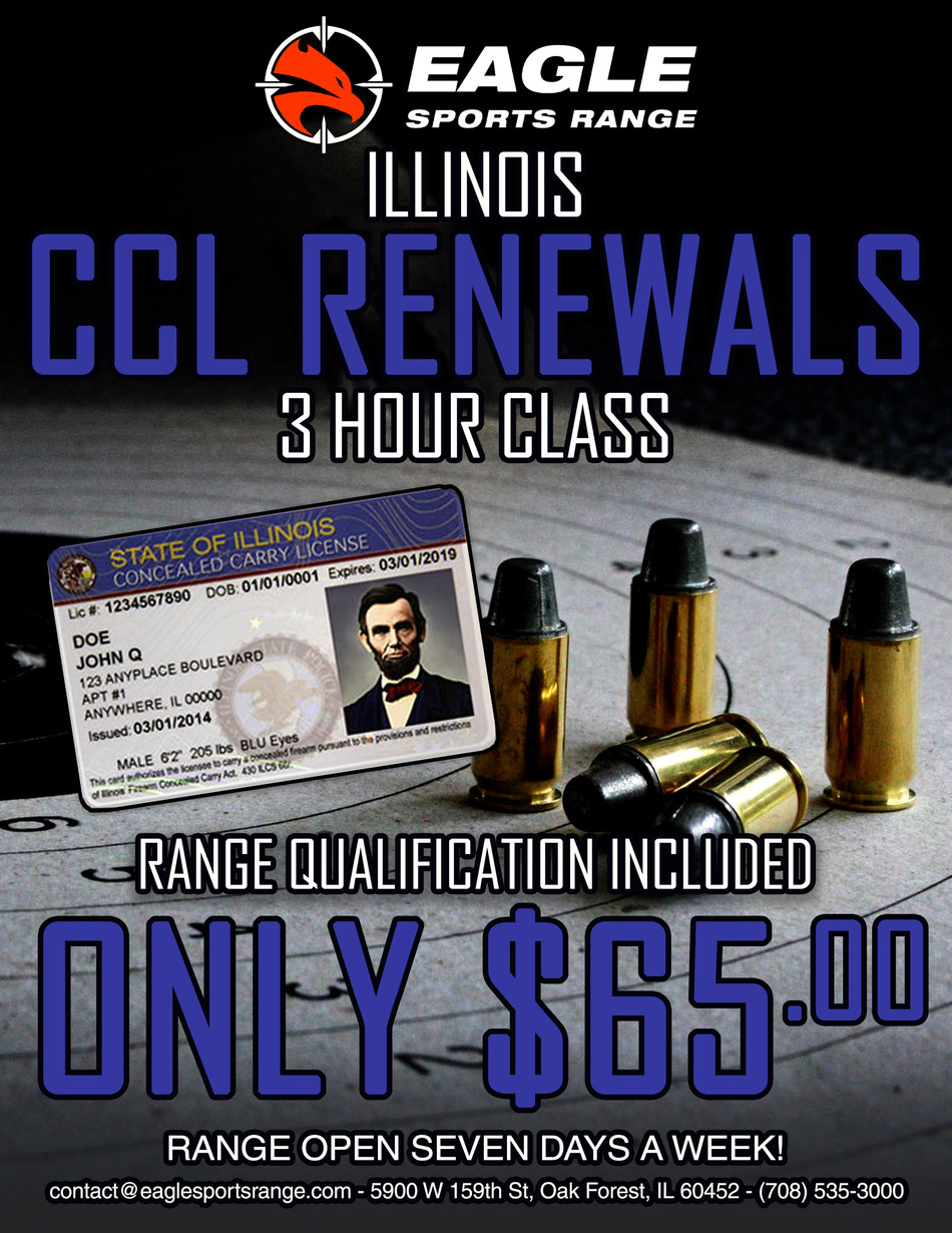 Illinois conceal carry renewal (PRNewsfoto/Eagle Sports Range)