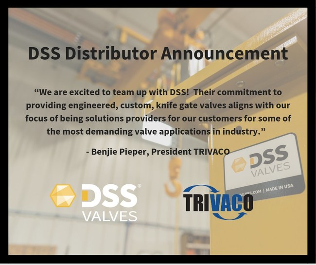 DSS Valves Distributor Announcement - TRIVACO