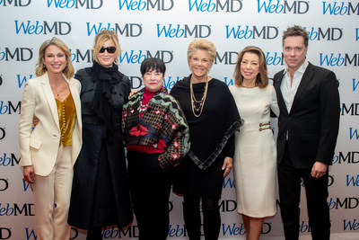 At the 2019 WebMD Health Hero Awards in New York City, left to right, Amy Robach, Sandra Lee, Kathy Bates, Joan Lunden, Margaret Cuomo, Rufus Wainwright