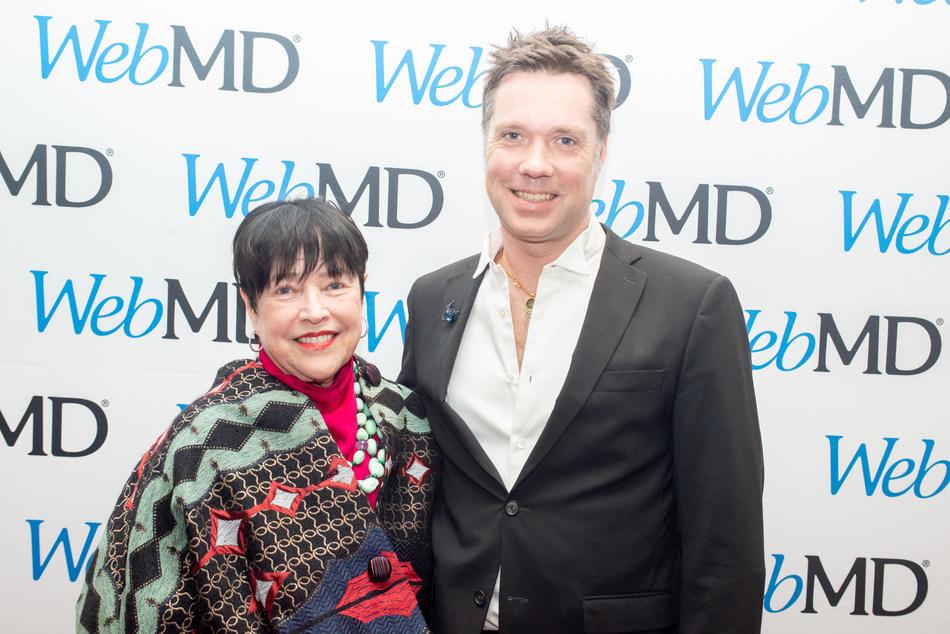 Kathy Bates and Rufus Wainwright at the 2019 WebMD Health Hero Awards in New York City
