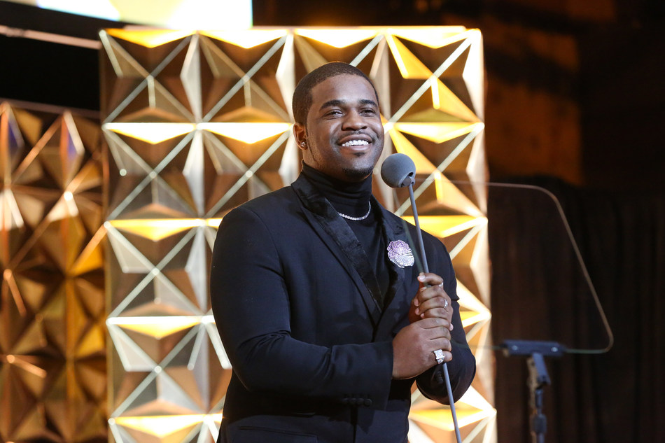 A$AP Ferg presents the GEM Award for Marketing & Communications to Tiffany & Co. at the 17th Annual GEM Awards. Photo by Benjamin Lozovsky/BFA.com
