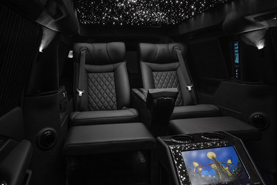 "Lexani Motorcars Cadillac Escalade 30"" Extended Viceroy Interior Reclining Captain's Chairs"