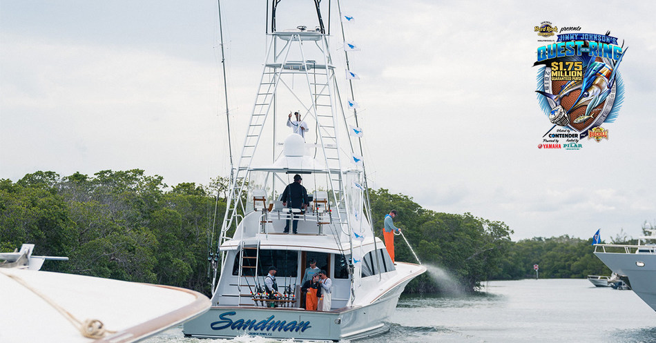 Sandman joins the Ring of Honor with winnings of $395,000 at the 2018 JJFISHWEEK. $1.75 Million up for grabs thanks to Seminole Hard Rock at Coach Jimmy Johnson's Championship Fishing Tournament Week in Key Largo, Fl, March 2-9, 2019. Catch & Release Billfish and Weighted Meat Fish Categories available. Come & Get It!