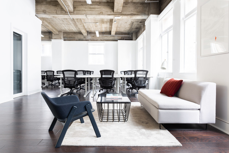 Breather's month-to-month office space at 564 Market Street in San Francisco's Financial District accommodates a business up to 28 people.