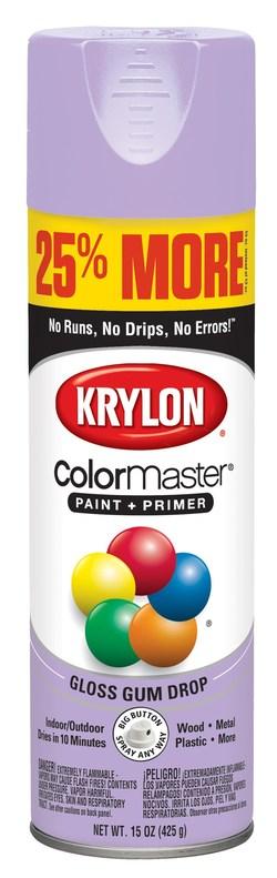Krylon ColorMaster Paint + Primer - 25% More in Gloss Gum Drop