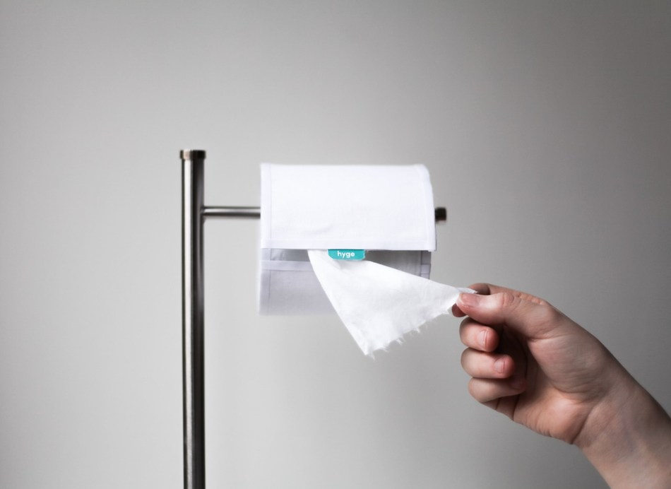 HYGE has started a toilet paper revolution with the launch of the world's first biodegradable, flushable wet wipes on roll. HYGE wipes provide a new level of clean in a convenient, sustainable and stylish package. Pre-orders are now available through HYGE's Kickstarter pre-order campaign now through February 7, 2019. HYGE is looking to begin full-scale manufacturing in the US (Michigan and Pennsylvania) later this year. HYGE is good for you and good for the environment.