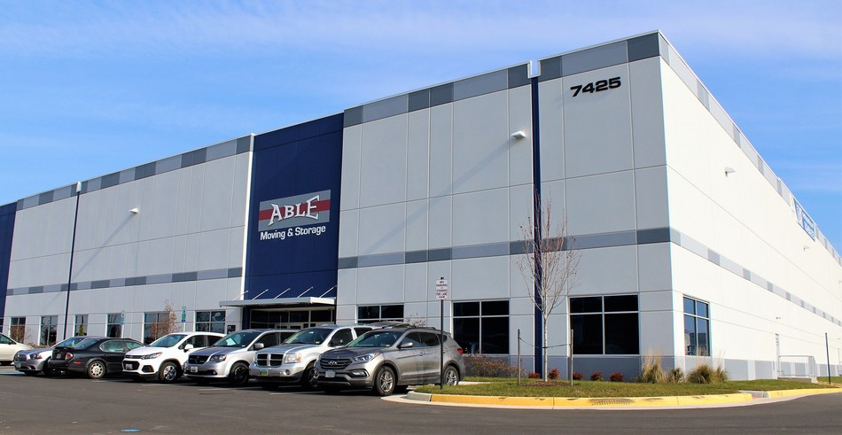 Able Moving & Storage new commercial division headquarters located at 7425 Merritt Park Drive in Manassas, Virginia.