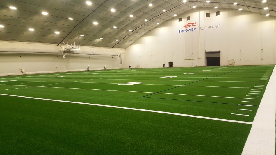GreenFields IRONTURF installed at New England Patriots Empower Field House