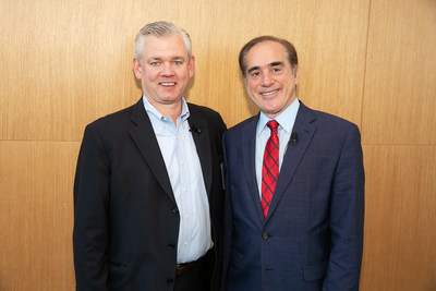 AbleTo CEO Trip Hofer and recently appointed board member, David J. Shulkin, M.D., at the 2018 AbleTo Behavioral Health Innovation Summit on October 25, 2018 in New York