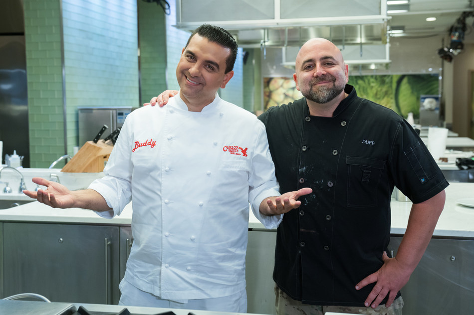 Buddy Valastro and Duff Goldman on Food Network's Buddy vs. Duff.