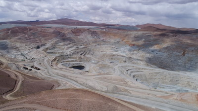 Aerial view of Quebrada Blanca mine operations.