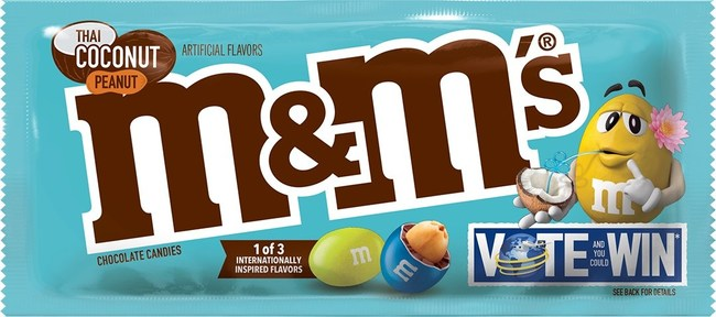 M&M'S® BRINGS BACK ITS POPULAR FLAVOR VOTE WITH NEW INTERNATIONALLY-INSPIRED FLAVORS