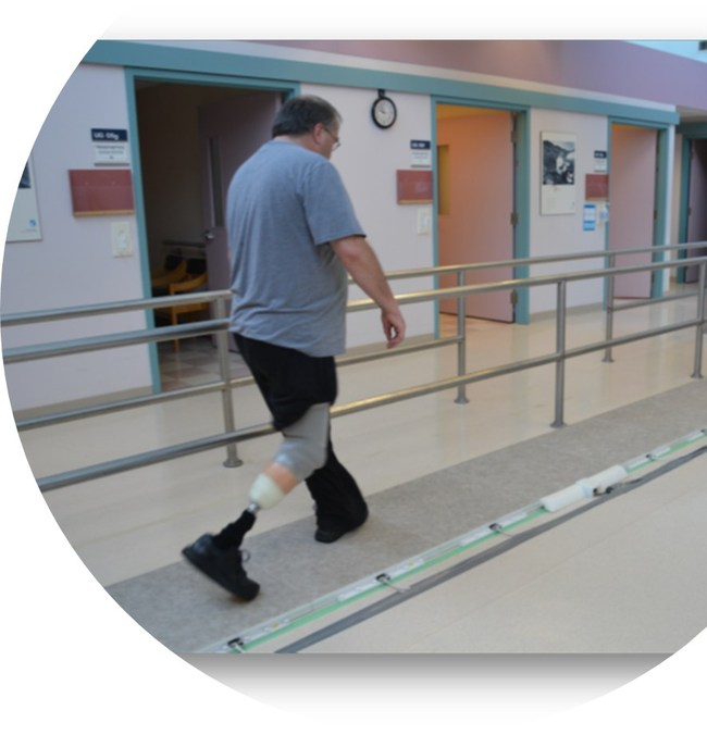 Stepscan Pedway being used for a Prosthetic Fit Assessment