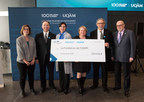 From left to right: Dominique Marquis, Vice Dean, Faculty of Social Sciences, UQAM; Pierre Bélanger, Executive Director, Fondation de l'UQAM; Magda Fusaro, UQAM rector; Martine Turcotte, Vice Chair, Québec, Bell; Brian Mishara, CRISE Director; Jean-Marc Eustache, Chair of the board of directors, Fondation de l'UQAM (CNW Group/Bell Canada)