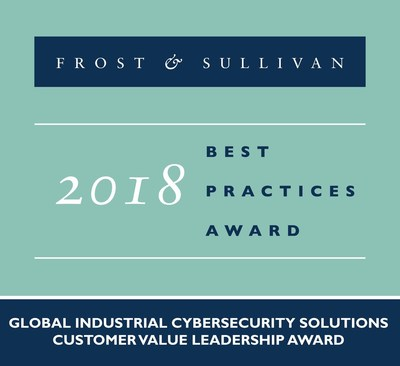 2018 Global Industrial Cybersecurity Solutions Customer Value Leadership Award