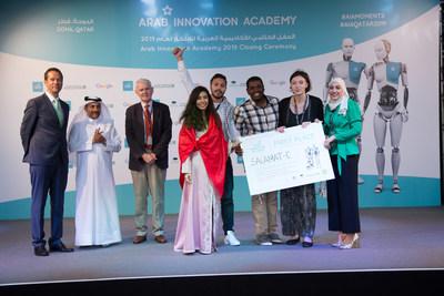 'Salamat-e' wins first place at the Arab Innovation Academy 2019. (PRNewsfoto/Qatar Science & Technology Park)