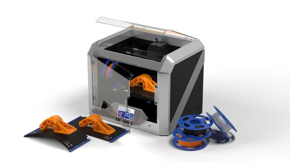 The Dremel DigiLab 3D40 FLEX offers several new features that make it easy to print multiple projects quickly and efficiently. The flexible build plate in particular allows for easy removal of prints to provide students and educators with the best experience in digital fabrication.