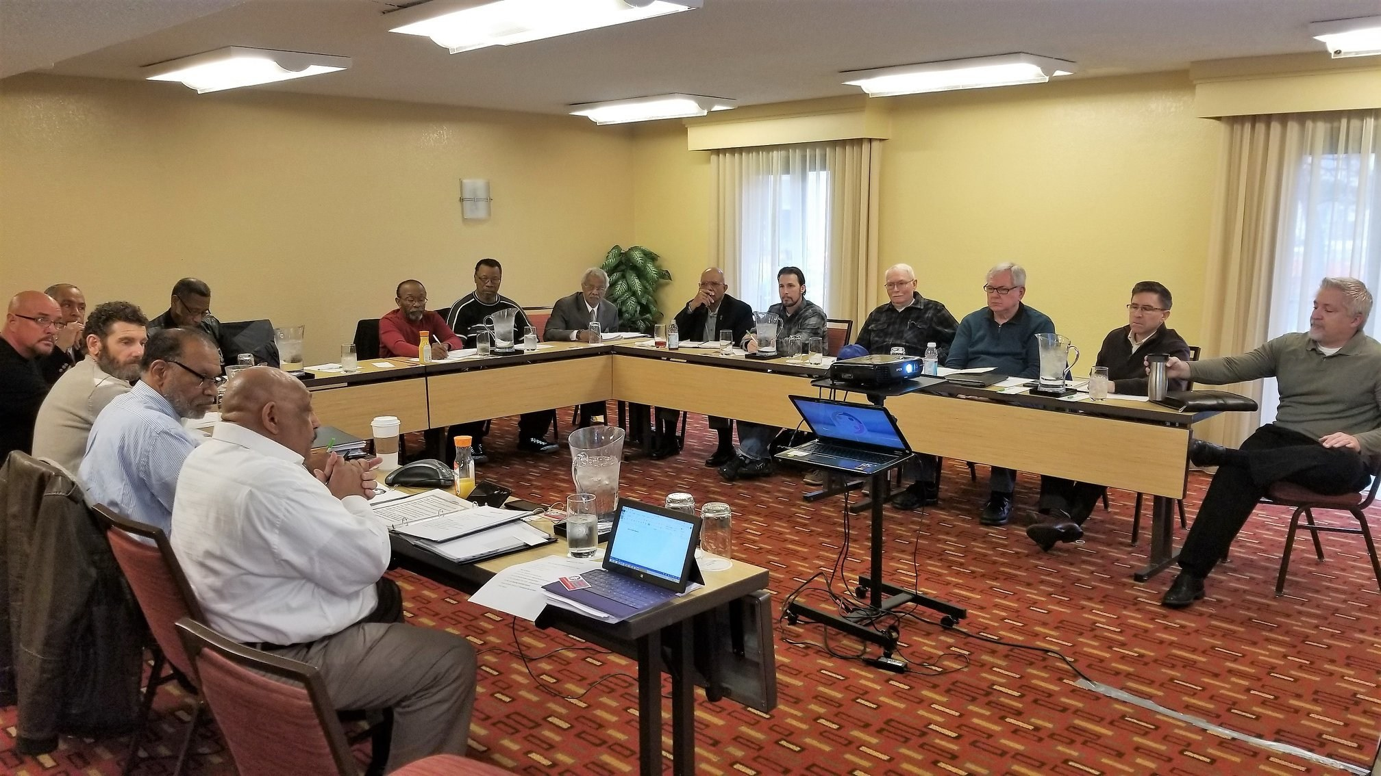 Men's Huddle International Board Meeting. The team is planning for a year packed with lots of activities.