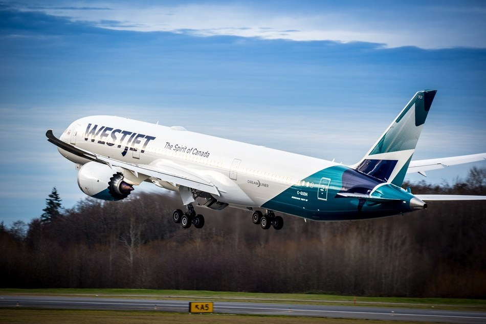 WestJet's first Boeing 787-9 Dreamliner, named in honour of the airline's chairman and founder, Clive Beddoe, has now been delivered. (CNW Group/WESTJET, an Alberta Partnership)