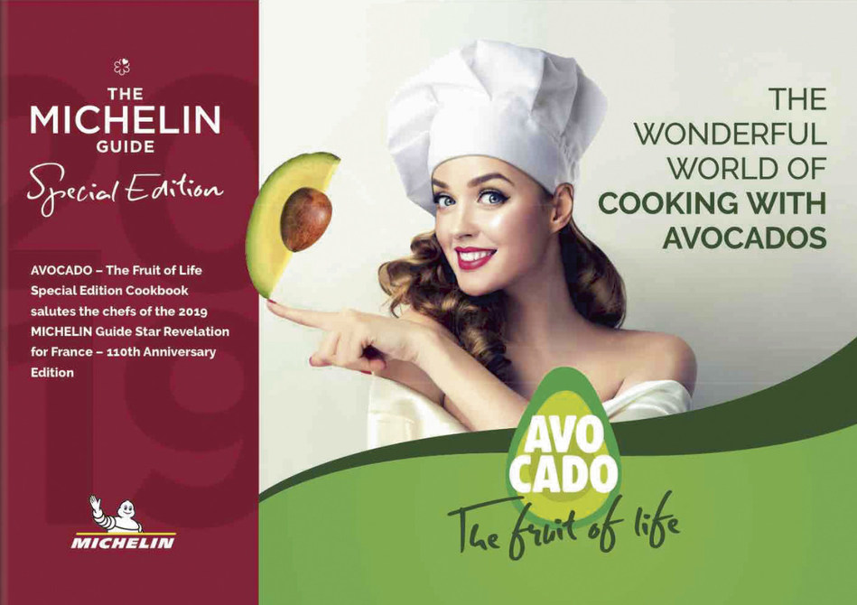 """Avocado, """"The Fruit of Life"""", Special Edition Cookbook Salutes the Chefs of the 2019 Michelin Guide Star Revelation for France."""