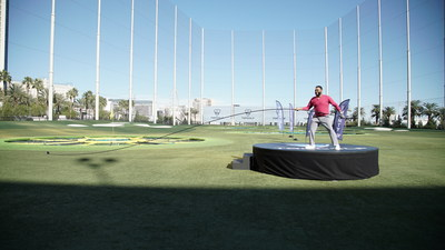 World's Longest Golf Club and Anthony Anderson Action Image