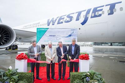 WestJet enters global era with arrival of Dreamliner (CNW Group/WESTJET, an Alberta Partnership)