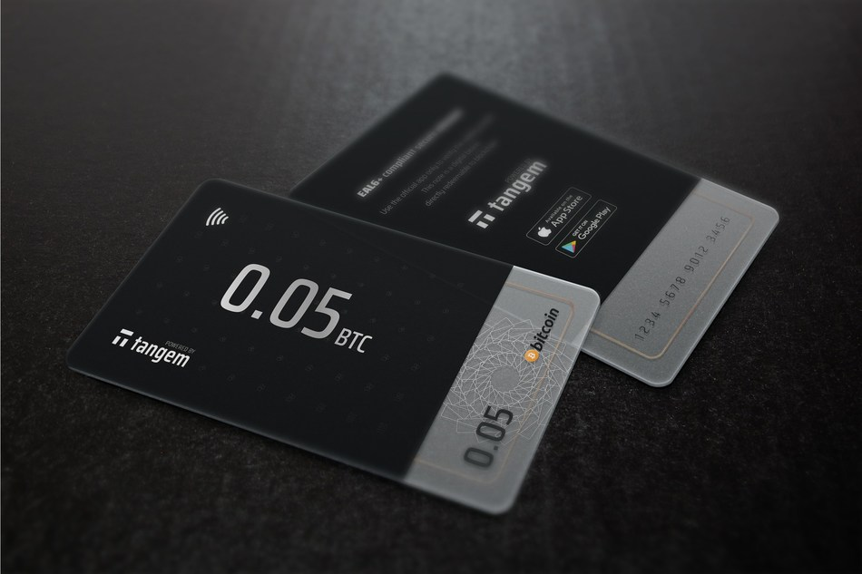 Tangem blockchain smart card wallets
