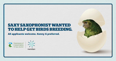Saxophonist wanted to help get birds breeding. All applicants welcome. www.meridian.co.nz/saxy
