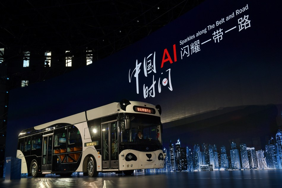 DeepBlue Technology unveils the Smart Panda Bus in Shanghai