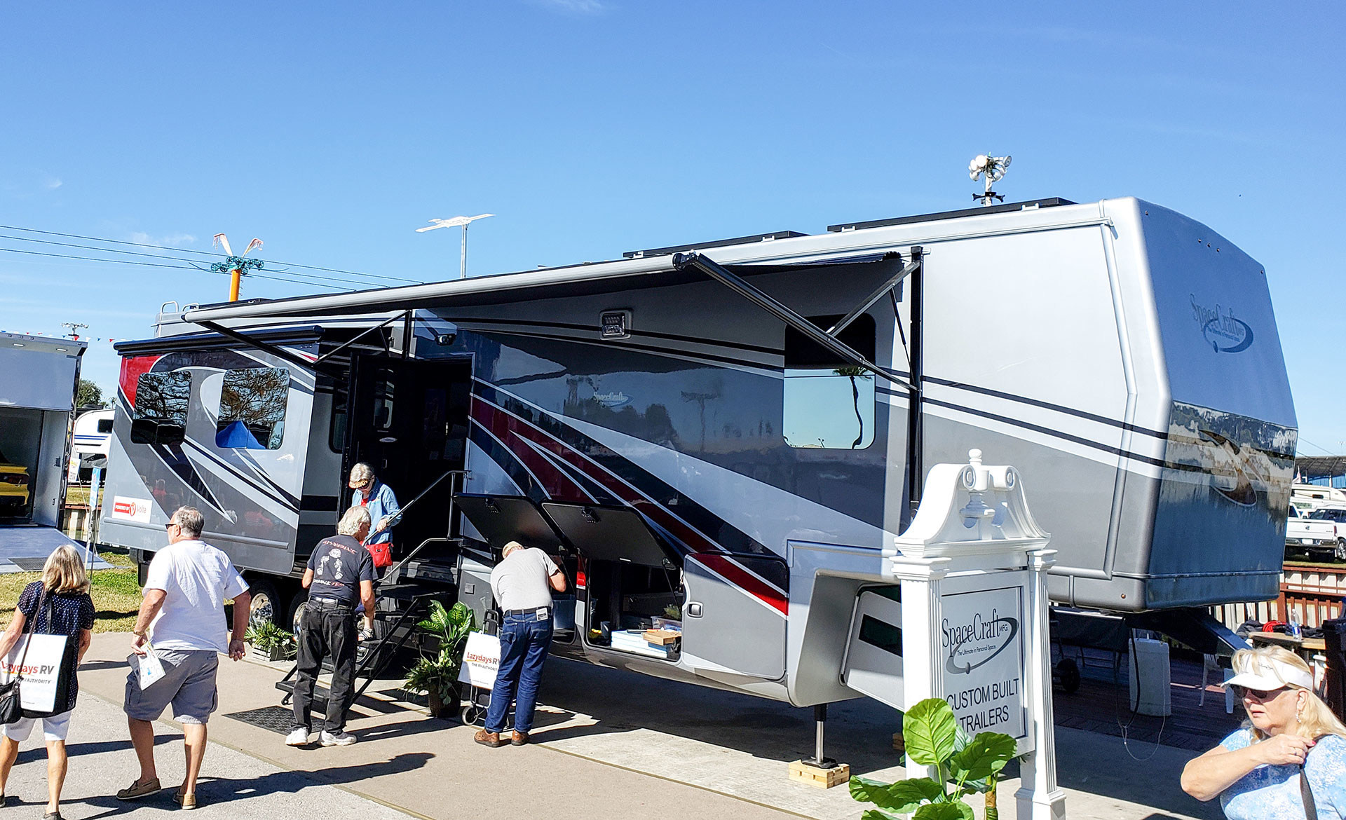 The Space Craft 5th wheel RV featuring the Volta Power System.