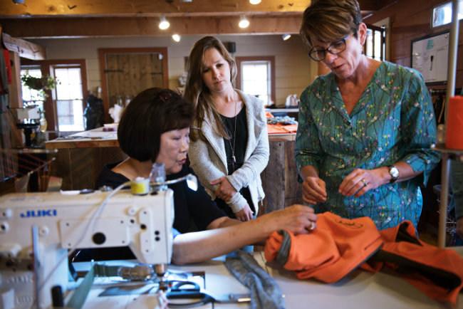 VOORMI seamstresses manufacturing products in Colorado