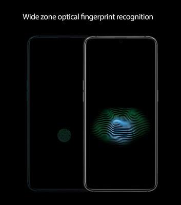 Wide zone optical fingerprint recognition (PRNewsfoto/OPPO)