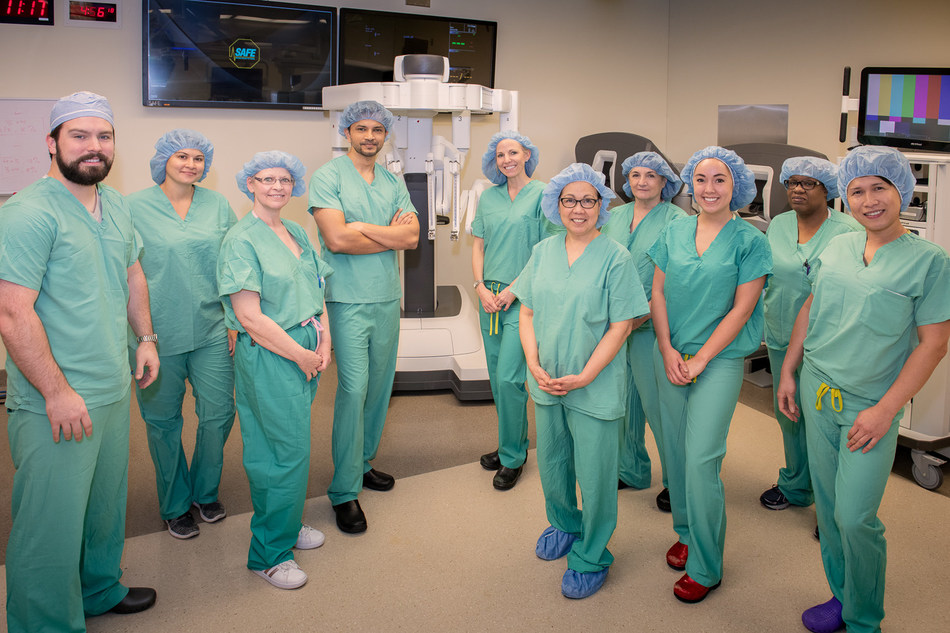 Dr Ankit Bharat and staff first in the US to perform robotic lung volume reduction surgery