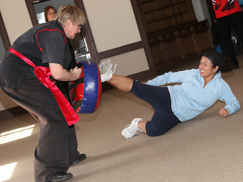 Teaches Self Defence on Campuses, Specialty Groups, Government, Corporate, Private and have done groups for Media Staff.