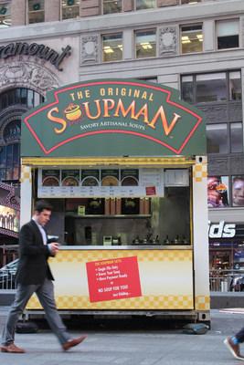 Original Soupman Times Square Kiosk