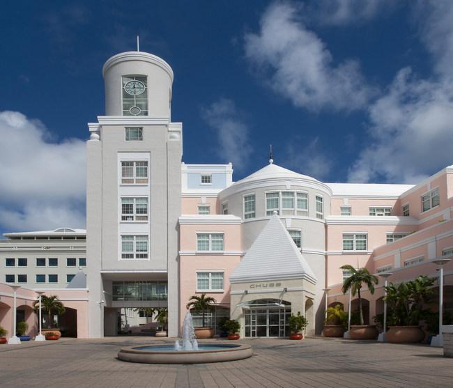 The Chubb Building on Woodbourne Avenue in Bermuda