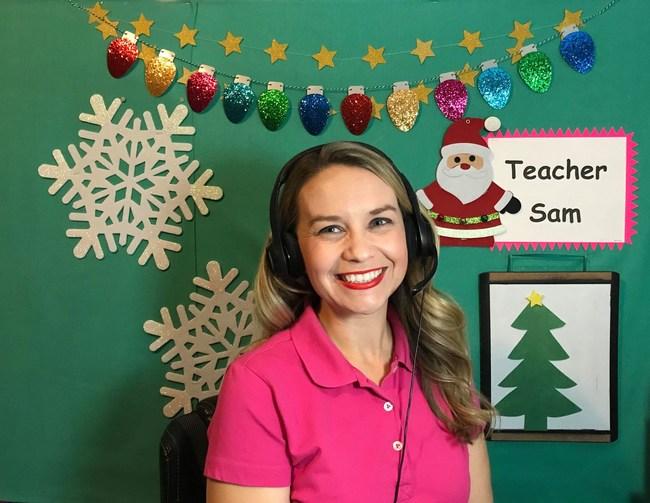 Samantha Joy, a teacher who uses the online language learning platform, Naativ