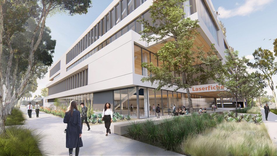 Rendering of new Laserfiche building courtesy of Studio One Eleven