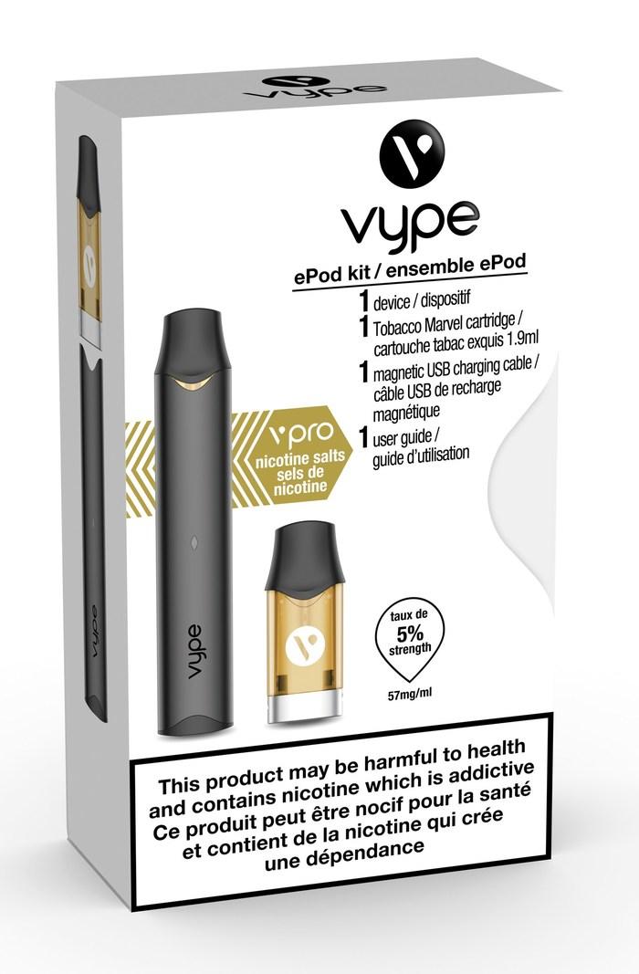 Emballage de l'ensemble Vype ePod (Groupe CNW/Imperial Tobacco Canada (Français))